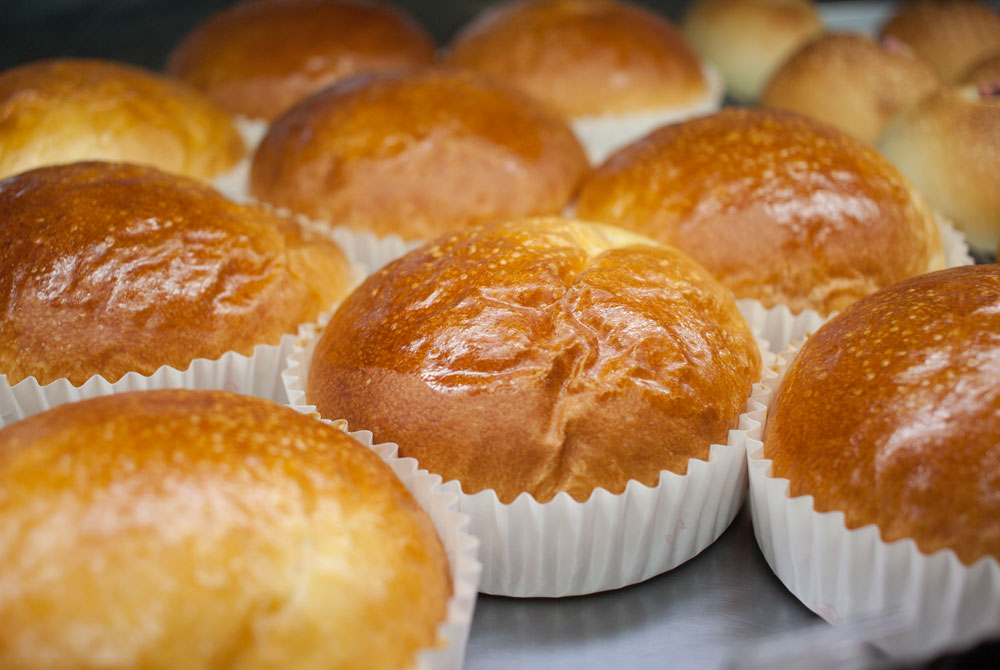 高根台プラザのパン屋さんカスタードクリームパン