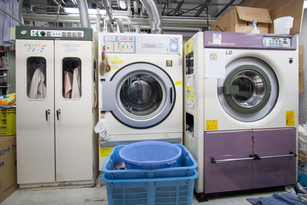 高根台プラザの昭和クリーニング洗濯機